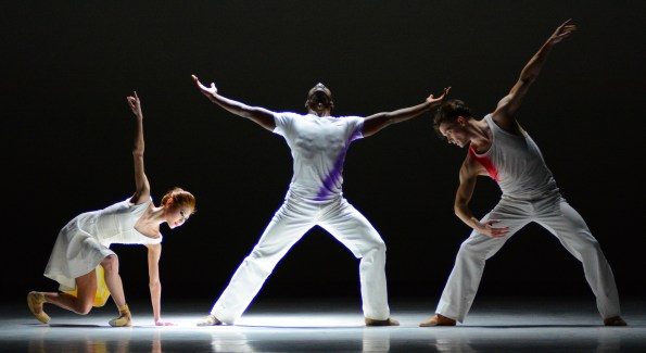 Maki Onuki, Brooklyn Mack and Jonathan Jordan  in British Invasion. Photo by Paul Wegner.