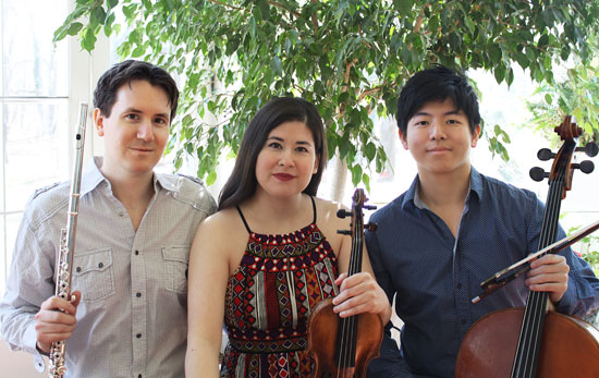 Sonic Escape are from left: Shawn Wyckoff, Maria Kaneko Millar and Nan-Cheng Chen. (Photo by Anna Millar)