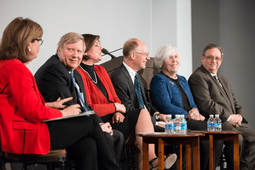 The White House Historical Association hosted a panel discussion by Susan Page, George Condon, Ann Compton, and Steve Holland of the White House Correspondents' Association marking the 100th anniversary of the WHCA. The event was filmed by C-SPAN. (Photo by Matthew Paul D'Agostino / WHHA)