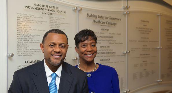 Mark and Brenda Moore (Photo by Inova Hospital)