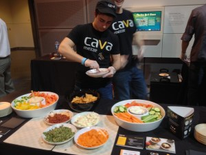Cava Mezza serves up food at Sips & Suppers (Photo by Erica Moody)