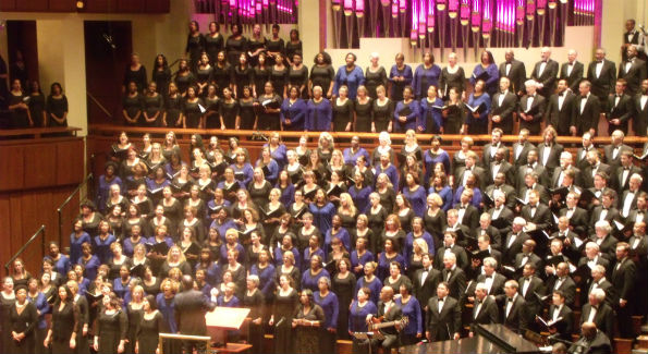 The choirs of Choral Arts and Washington Performing Arts continue the tradition of honoring Martin Luther King, Jr. through meaningful song. (Photo Credit: Patrick D. McCoy)