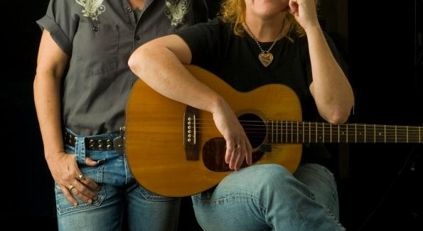 The Indigo Girls (Amy Ray, left, and Emily Saliers) play a sold-out Birchmere November 2nd (photo courtesy John Slemp)