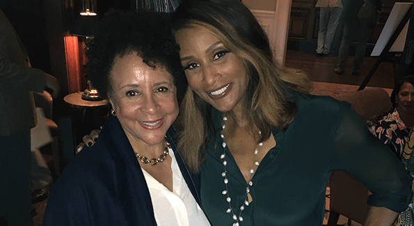 Beverly Johnson (right) with Sheila Johnson (Photo Courtesy of Beverly Johnson)