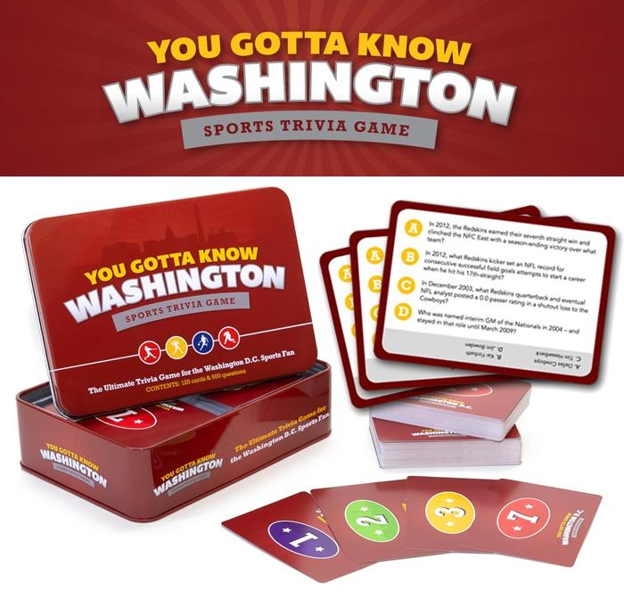 Washington Sports Trivia Game ($ 19.95)