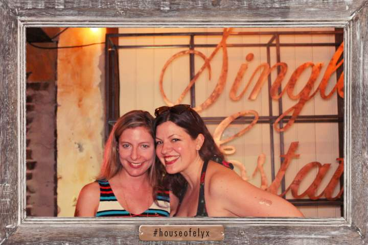 Kelly Magyarics (left) and fellow freelance writer (and new friend thanks to Tales!) Virginia Miller at Absolut's Elyx House. Courtesy photo.