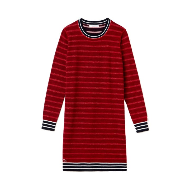 lacoste-striped-wool-sweater-dress