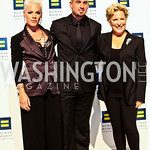 Photo by Tony Powell. P!nk, Carey Hart, Bette Midler. 14th Annual HRC Dinner. October 9, 2010
