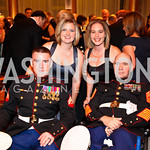Photo by Tony Powell. Cpl. Larry Draughn II, Kaytlin Draughn, Vickki Mackey, Sgt. Maj. Raymond Mackey. Charity Works Dream Ball. National Building Museum. October 2, 2010