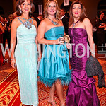 Photo by Tony Powell. Faith Shah, Lauri Tamney, Faye Rokni. Charity Works Dream Ball. National Building Museum. October 2, 2010