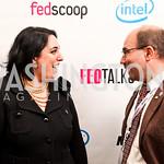 Photo by Tony Powell. Goldy Kamali, Craig Newmark. Fed Talks 2010. Harman Center. October 12, 2010