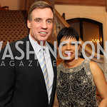 Photo by Alfredo Flores. Mark Warner, Audrey Marks . An International Evening of Excellence In Honor of Global Kids in D.C. at the Residence of the French Ambassador. December 12, 2010