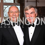 General Colin Powell, Sam Donaldson. Kennedy Center Spring Gala. Photo by Tony Powell. April 3, 2011
