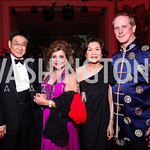 Theow Tow, Annie Totah, Singapore Amb. Chan Heng Chee, Shayne Doty. Photo by Tony Powell. Opera Ball. Embassy of China. May 7, 2011