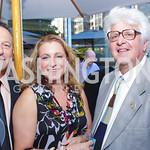 Roy Cargiulo, Carole Cargiulo, Jeff Kolker. Photo by Alfredo Flores. Park Hyatt Masters of Food and Wine Reception. Blue Duck Tavern Terrace. June 2, 2011