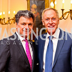 Bruce Neal and Patrick O'Connell. VIP reception for Relais & Chateaux Hotels. Photo by Tony Powell. French Ambassador's residence. March 28, 2011