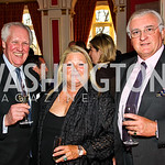 Philip Wood, Constance Milstein and JC de La Haye St. Hilaire. VIP reception for Relais & Chateaux Hotels. Photo by Tony Powell. French Ambassador's residence. March 28, 2011