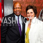Rep. Elijah Cummings, Maureen Orth. Photo by Tony Powell. Kareem Abdul-Jabbar Private Dinner. June 6, 2011