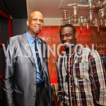 Kareem Abdul-Jabbar, Anthony Morrow. Photo by Tony Powell. Kareem Abdul-Jabbar Private Dinner. June 6, 2011
