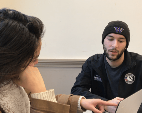 Washington Service Corps AmeriCorps member Matthew serving with the University of Washington Dream Project in Seattle, WA
