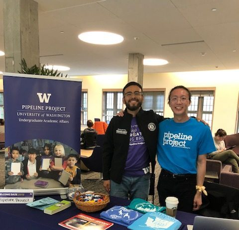 WSC members Anthony and Brian serving with the UW Pipeline project