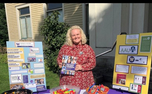 WSC member Rachel serving with University of Washington in Seattle, WA tabling at a promotional event