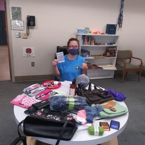 WSC member Sara, serving with Women's Hearth Transitions in Spokane.