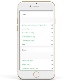 Access to the In-App Nutrition Tracker