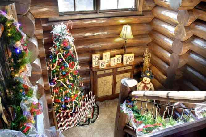 Log home for holidays