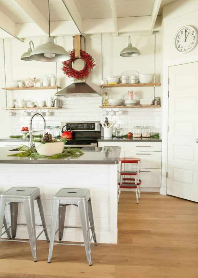contemporary kitchen for christmas decor