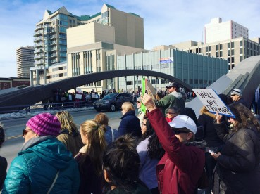The northern Nevada community gathered on January 29, 2017, to show support for our immigrant and refugee neighbors at the Bridges Not Walls Rally.
