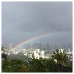Rainbow, on a rainy day