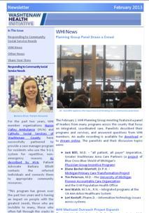 February 2013 WHI Newsletter