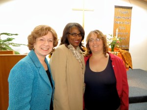 Babette Levy (Center for Healthcare Research & Transformation), Dr. Bonita Neighbors (Community Dental Center), and Ruth Kraut (Washtenaw Health Plan)