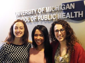 Health Policy Student Association leaders Olivia Alford, Katherine Autin, and Juliana Stebbins