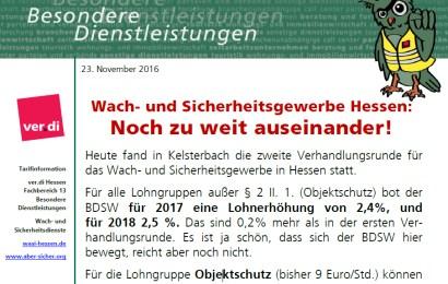 Zweite Verhandlungsrunde Sicherheit Hessen