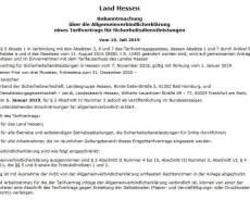 Hessischer Bewachungstarifvertrag allgemeinverbindlich!