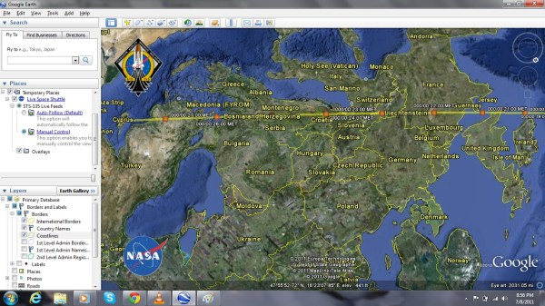 Watched Launching of Space Shuttle Atlantis LIVE