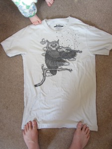 owl playing a violin t-shirt threadless