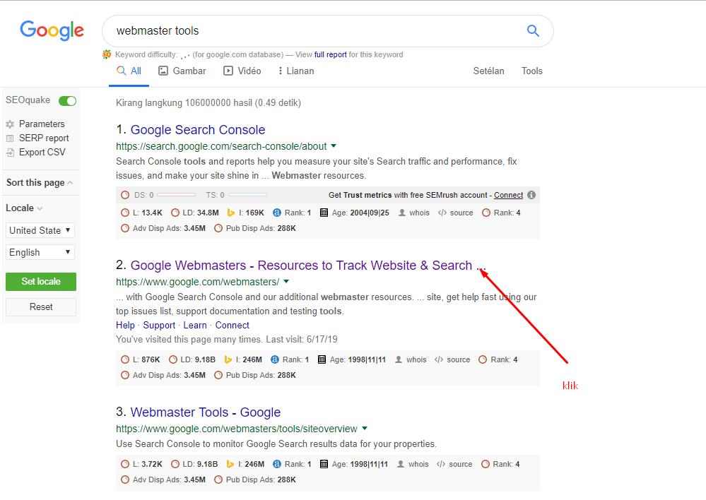 tampilan google
