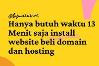 cara install website beli domain dan hosting
