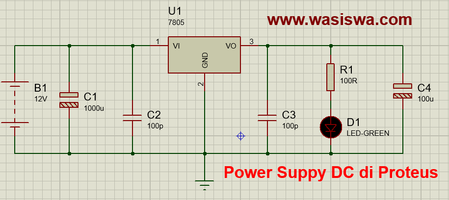 rangkaian power supply DC