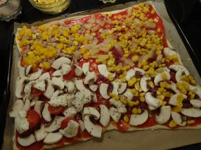 Raclette Pizza - belegt
