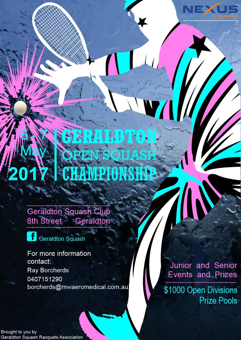 Geraldton Open 2017 Poster FINAL