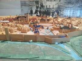 Mittelalterliche Stadtansicht Paderborn über die Mauer am Maspernplatz