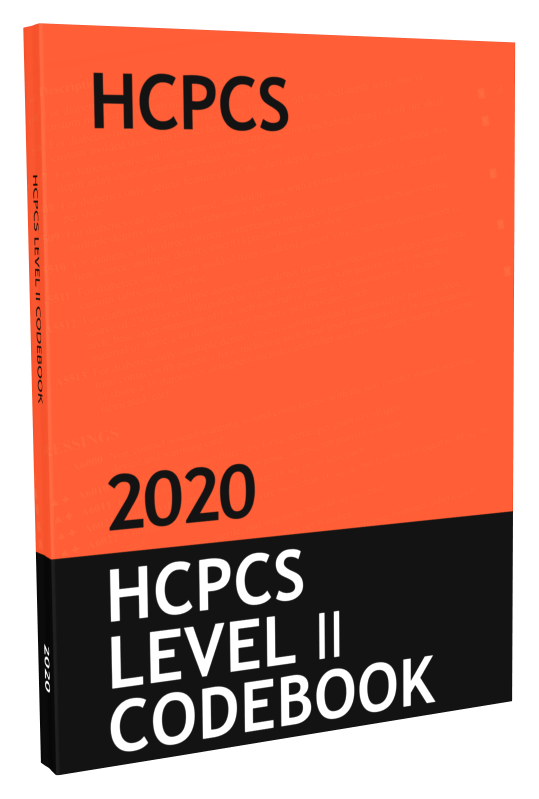 HCPCS Level II Code Book & Fee Guide Updated for 2020