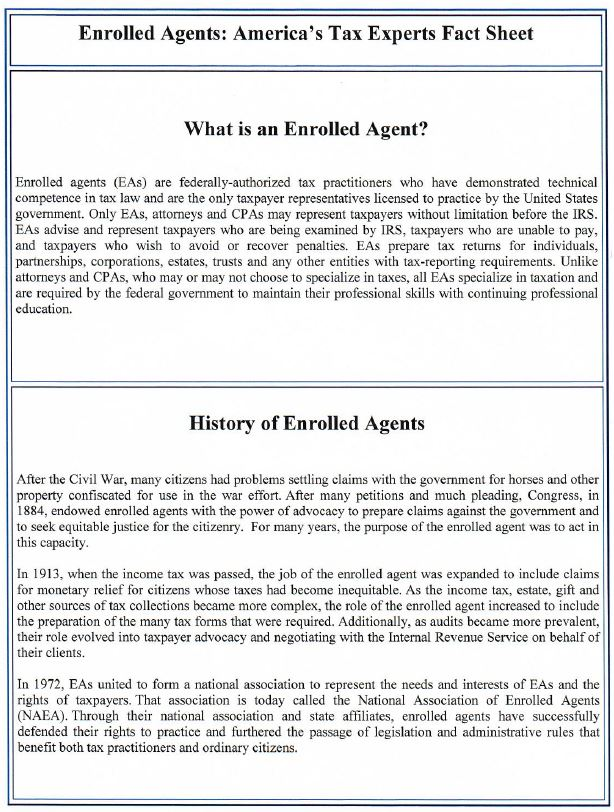 What is an Enrolled Agent_