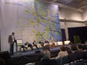 Green Business Leaders challenged by TV moderator Evan Solomon