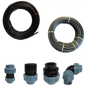 PE/PP Rohre, Fittings und Armaturen