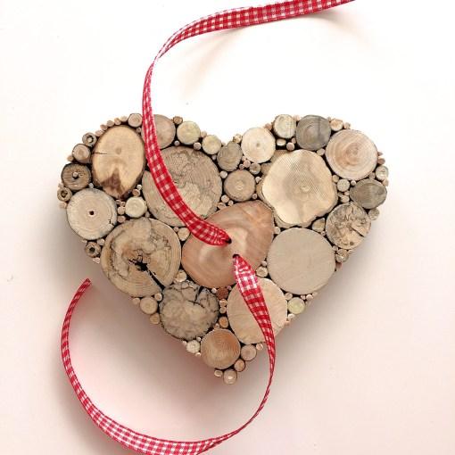 Herz Treibholz für Geldgeschenk Detailansicht